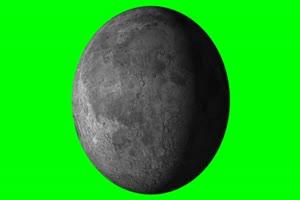 月亮旋转 旋转 绿屏抠像