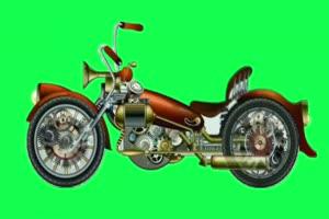 摩托车 绿屏抠像素材巧影