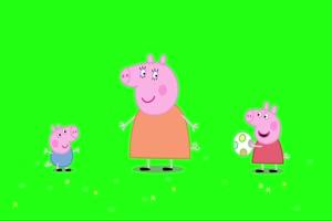 小猪佩奇 踢足球2 绿屏抠