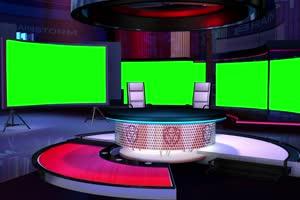 虚拟直播间 演播室 背景