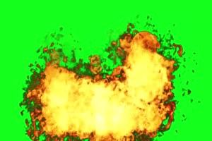 不断的爆炸 火焰 绿屏抠像绿布和绿幕视频抠像素材