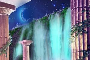 山水 瀑布  巧影AE 背景视频素材手机特效图片