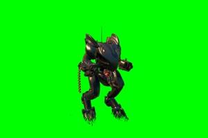 无头机器人跳舞堡垒之夜 和平精英 吃鸡人物绿幕手机特效图片